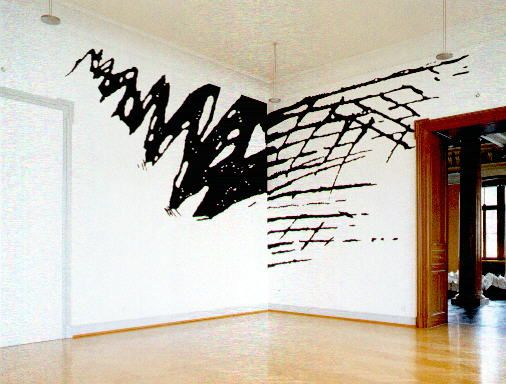Wall Designs Black And White : White wall painting designs in this decoration was