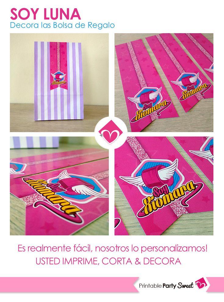 Soy Luna Gift Bag Tag DIY Birthday Soy Luna Candy Bags
