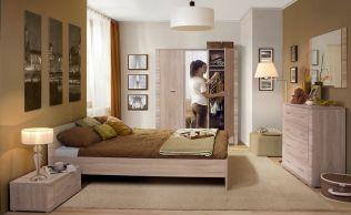 Sypialnia GRESS, dąb sonoma  #meble #dom #wnetrza #wystrój #mieszkanie