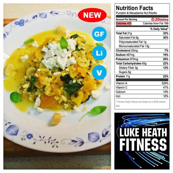 Pumpkin & Macadamia Nut Risotto – Luke Heath Fitness