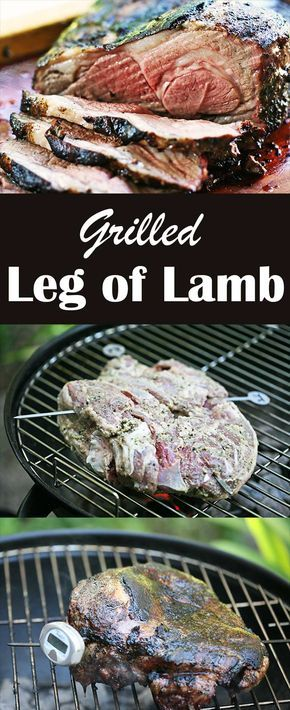Grilled Leg of Lamb! Butterflied for easy grilling, marinated in rosemary and garlic.