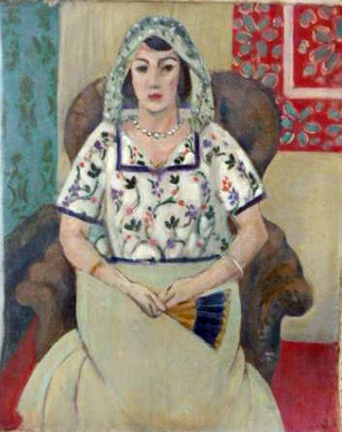 """Matisse, """"Seated Woman,"""" 1921 has being returned to Paul Rosenberg's family."""