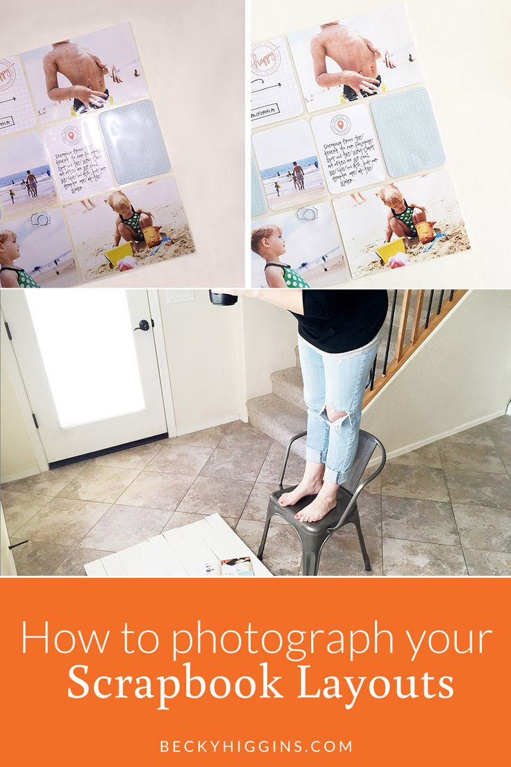 Easy baby scrapbook ideas - How To Photograph Scrapbook Layouts
