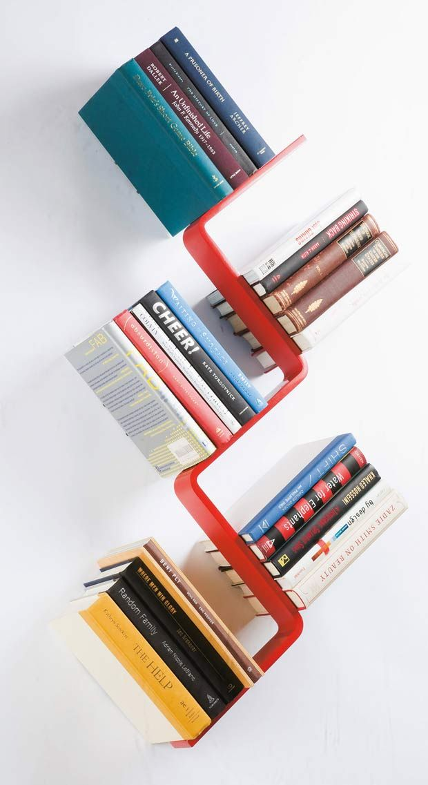 Sick of the straight and narrow? Try this diagonal bookshelf!