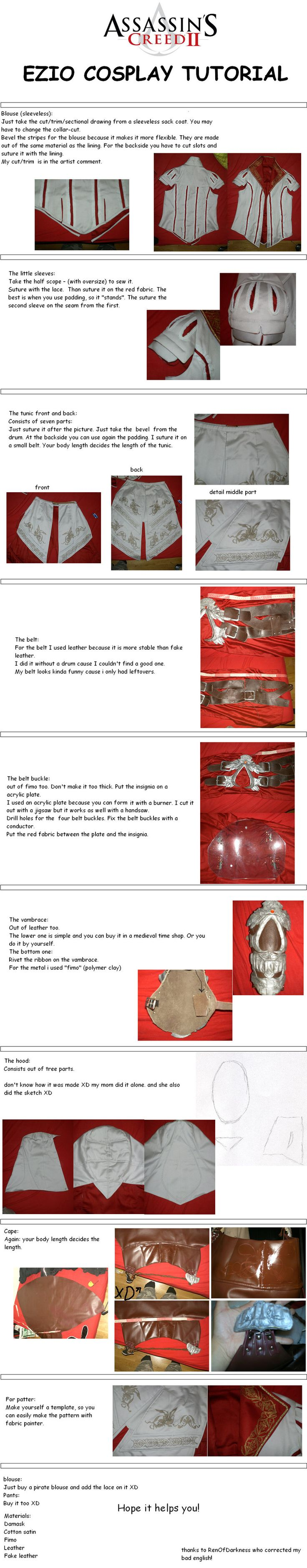 EZIO COSPLAY TUTORIAL -ENGLISH by LadyBad.deviantart.com on @deviantART