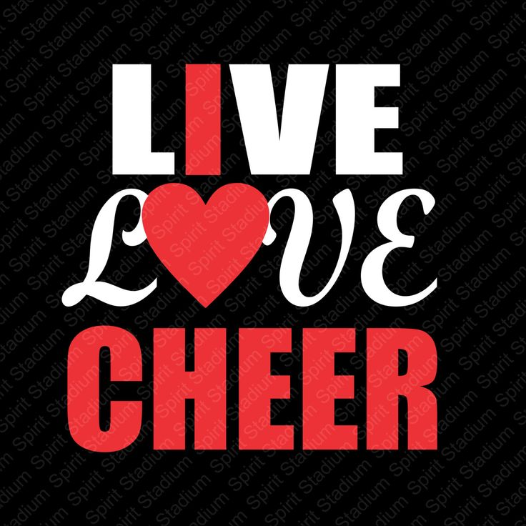 Live Love Cheer Shirt - I Love Cheer - Custom - Your Team Colors - Spirit Cheerleader T-Shirt by SpiritStadium on Etsy