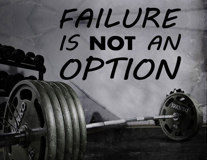 Gym Wall Decal For Home Gym Motivational Fitness - Failure Is Not An Option #FitnessMotivation #DietMotivation #MotivationalFitnessQuotes