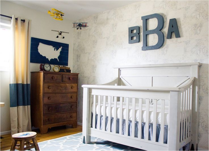 An all-American boy vintage nursery that will grow with him, and will help teach him all about the special men in his family.