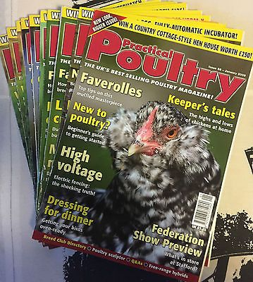 Practical Poultry Magazine-Chicken-Ducks-Game-Goose-Quail-Rabbits-#58 to 69 2009 Pet Supplies:Poultry & Waterfowl #forcharity