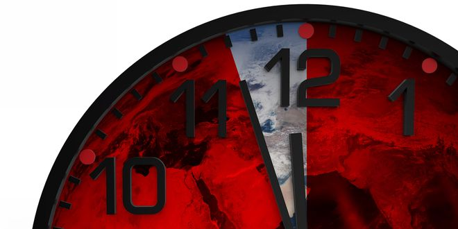Scientists have set the Doomsday Clock 30 seconds closer to midnight, the most dire setting since the US and the Soviet Union stood poised for nuclear apocalypse at the height of the cold war.