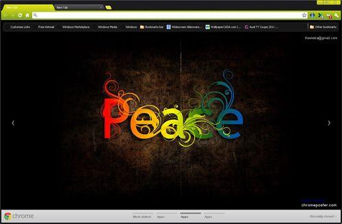 Peace Google Chrome Theme
