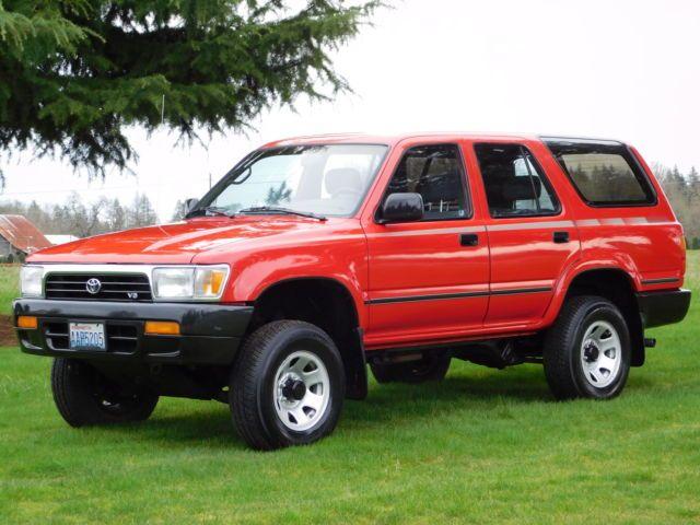 1992 Toyota 4Runner SR5 Sport Utility 4-Door 3.0L V6 74K ORIG MILES