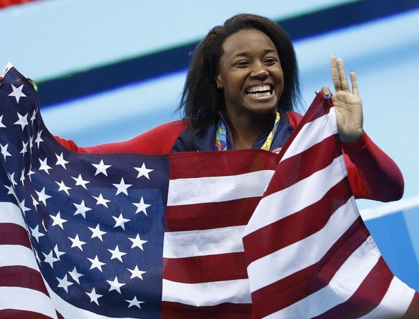 Simone Manuel became the first Black woman to win individual gold in swimming | Essence.com