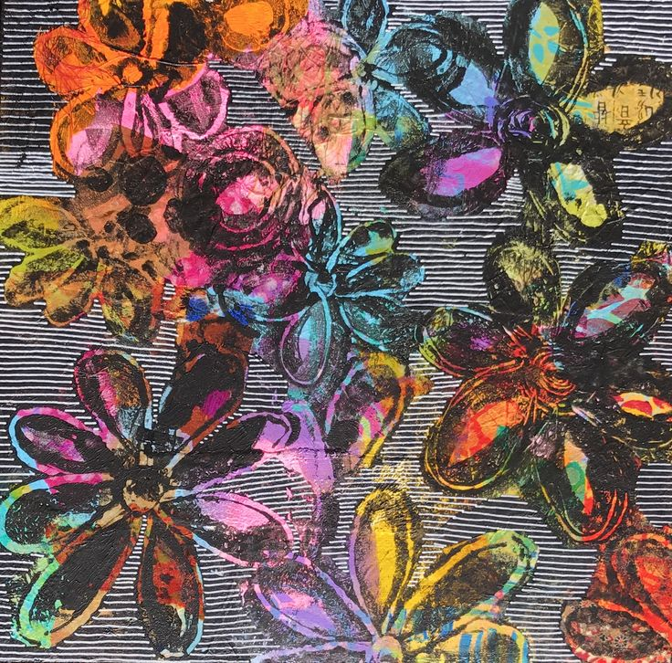Sylvia Marris, Fluro colours, plastic bag printing and doodling