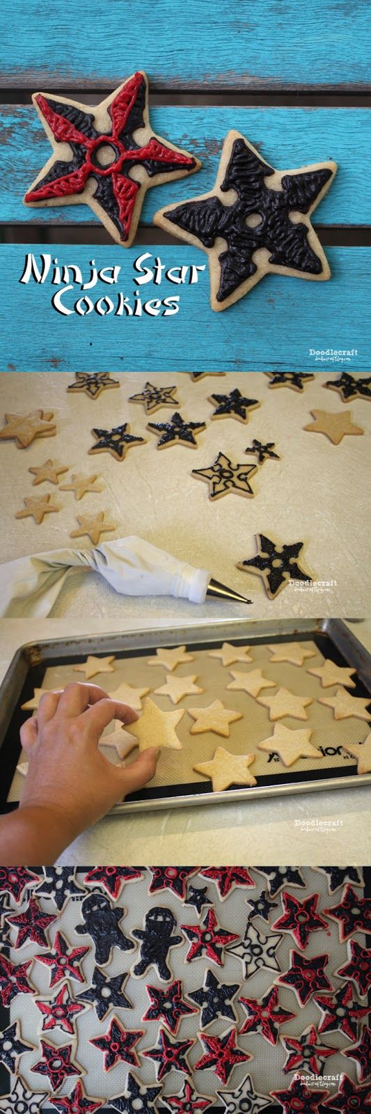 Ninja Star Sugar Cookies!                                                                                                                                                      Más