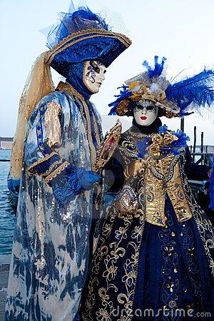venice carnival costumes | man in carnival costume are posing on Venice carnival in 2011. Venice ...