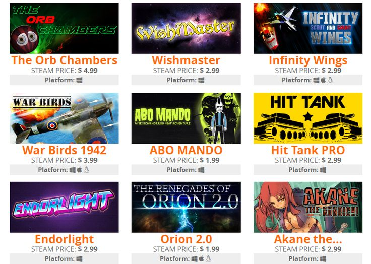 [Otakumaker] Otakumaker Re-Bundle #4: The Orb Chambers Wishmaster Infinity Wings War Birds: WW2 Air strike 1942 ABO MANDO Hit Tank PRO Endorlight The Renegades of Orion 2.0 Akane the Kunoichi (9 steam games for 1.49$)