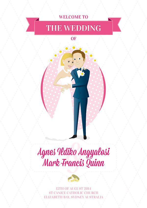 Wedding Booklet by Tamas Walter, via Behance