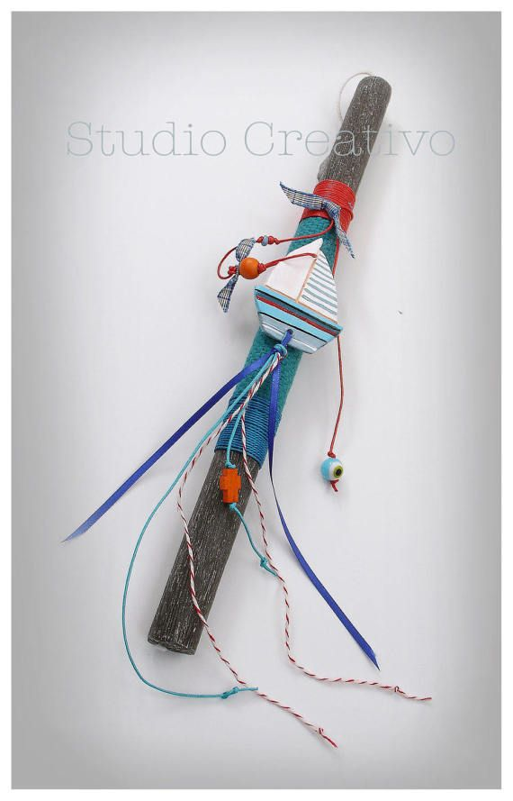 """Easter Candle - """"Sailboat"""""""