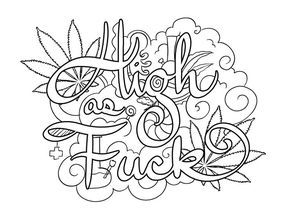 Image result for stoner coloring pages   Free adult ...