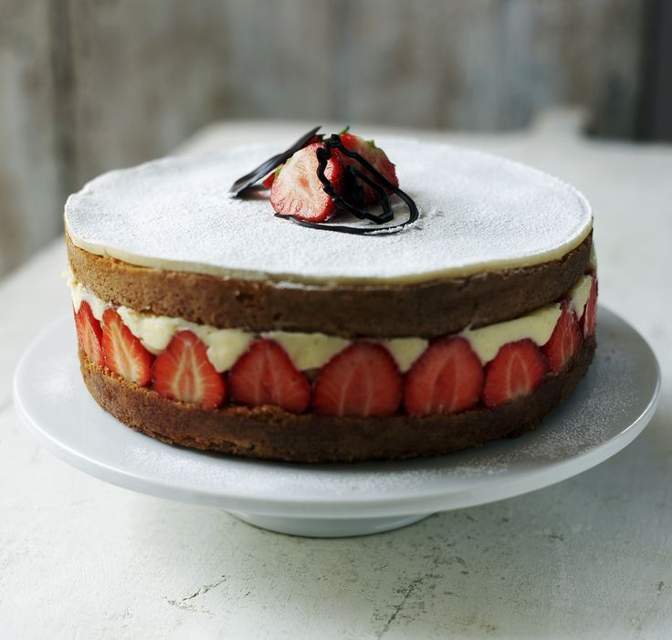 Mary Berry's fraisier cake may be tricky to achieve but it's certain to impress
