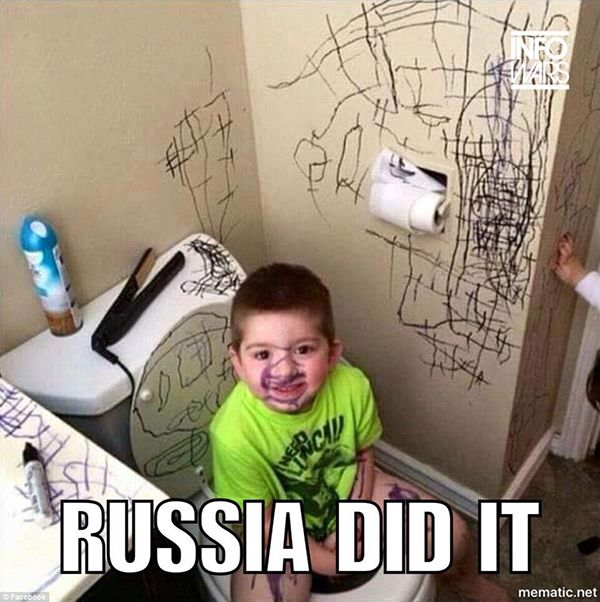 Yes, any thing wrong in your life can now be officially blames on Russia.