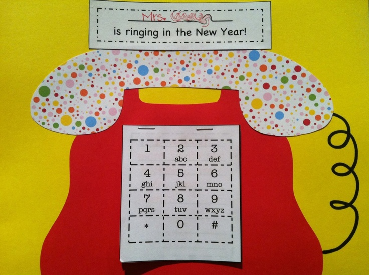 It's a phone to RING in the New Year!!  Stapled underneath the numbers are my kid-friendly resolutions.: Learning Phones, Phones Numbers, New Years Crafts, New Years Teaching Ideas, New Years Resolutions, Numbers Activities, Years Craftiv, Classroom Ideas, Crafts For Learning Numbers