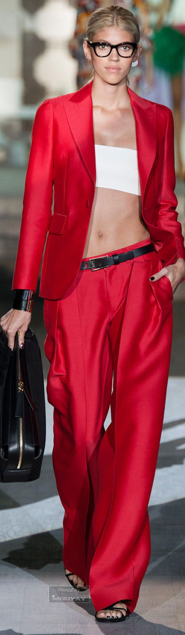 Dsquared² red womens pant suit JEWEL TONE STYLE #UNIQUE_WOMENS_FASHION