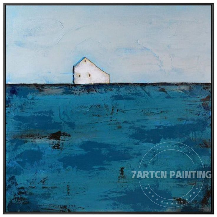 Barn painting modern abstract acrylic painting on canvas
