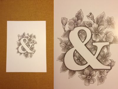 Floral Ampersand Print by Virginia Poltrack                                                                                                                                                                                 More