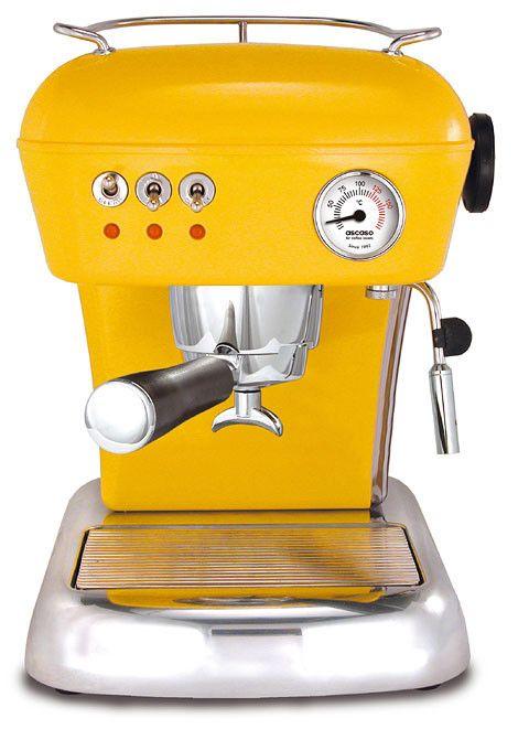 Ascaso Dream Coffee Machines Yellow Kitchen Accessoriescoffee