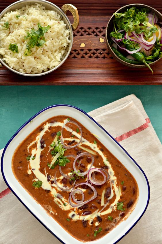 Punjabi Rajma- Red kidney beans curry in a rich tomato sauce