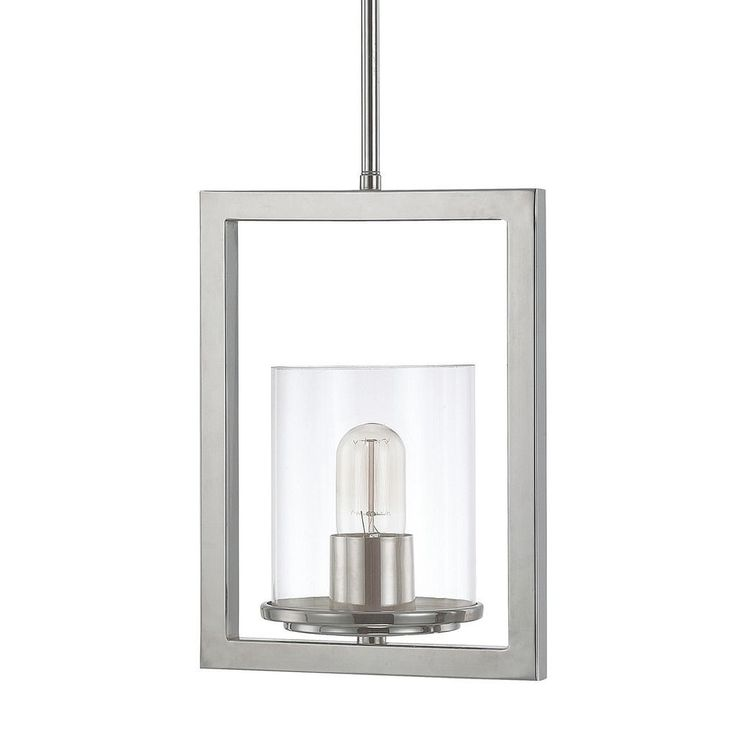 This Sloan Collection 1-light mini pendant features a polished nickel finish that will complement many modern and contemporary decors. The clear glass shade adds interest and completes the look of this piece.