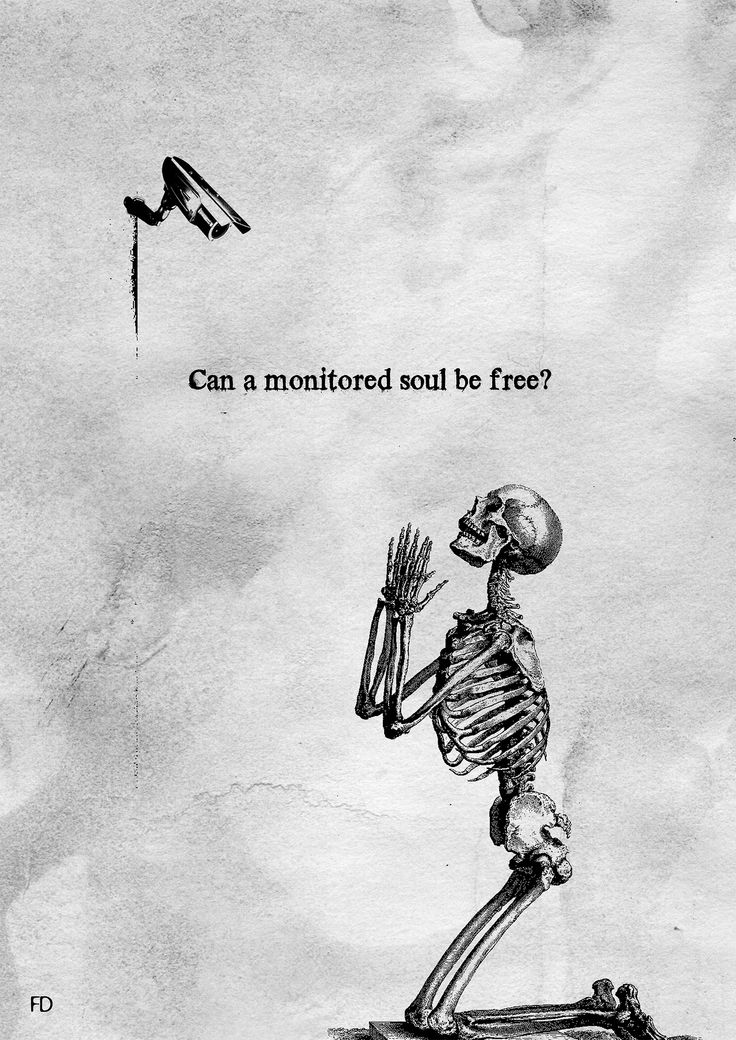 Can a monitored soul be free? Fariedesign Art quotes