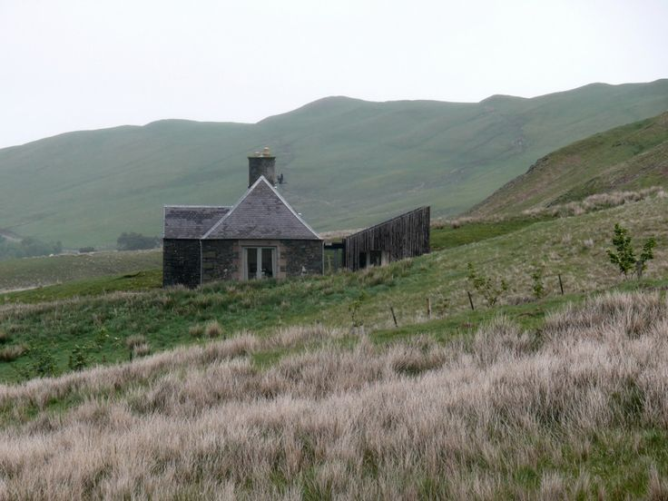 Exterior 02. Ackling Cook Bothy, by Reiach and Hall Architects. Ettrick Valley, Scotland. #exterior