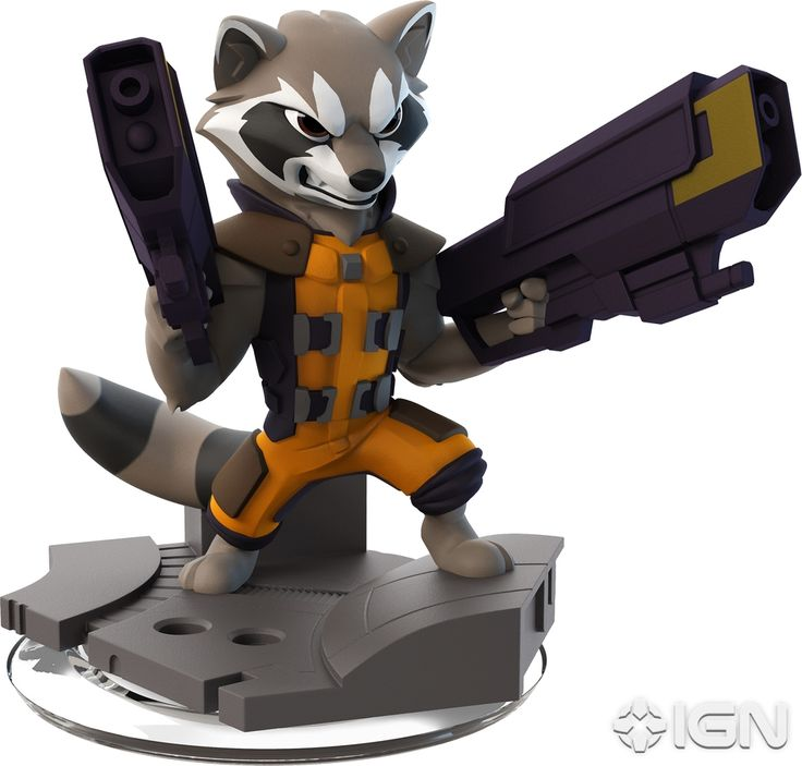 Disney Infinity 2.0 Figure: Rocket Raccoon (Wave 1, Guardians of the Galaxy Play Set, Sold Separately)
