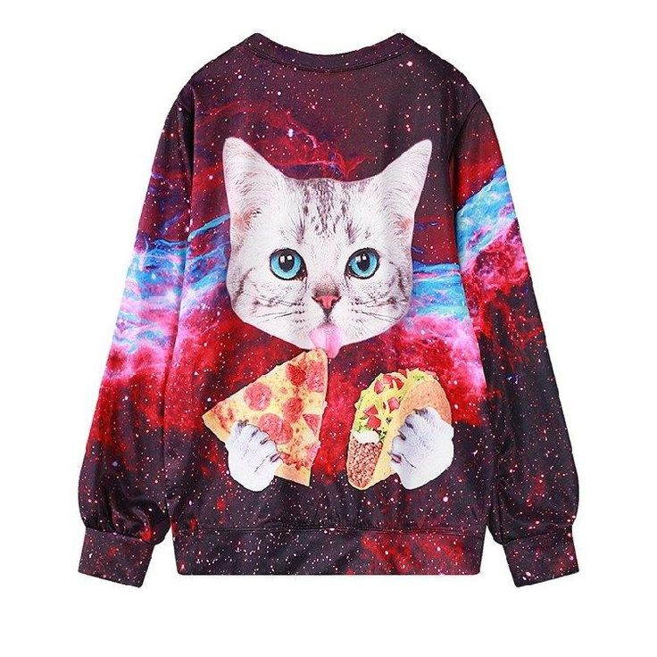 Galaxy Pizza Taco Cat Sweater SD00868 - SYNDROME - Cute Kawaii Harajuku Street Fashion Store