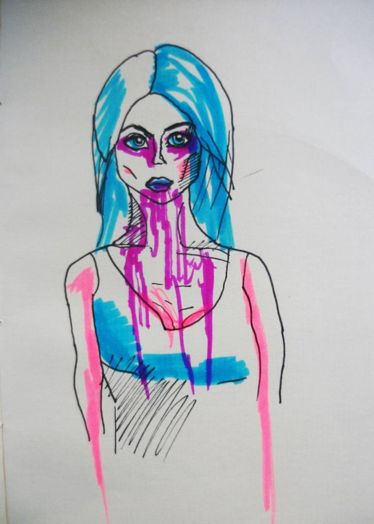 Buy Blood lover, a Ink on Paper by Gella Goring from Russia. It portrays: Celebrity, relevant to: pink, portrait, blood, blue, bright, alternative, allisonharvard, model There is nothing tastier than fresh rich blood. I adore blood smoothies, blood cocktails and blood salads. So yummy