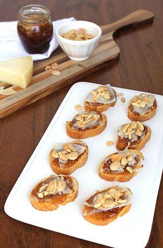 Manchego Cheese-and-Fig Crostini Recipe on Yummly. @yummly #recipe