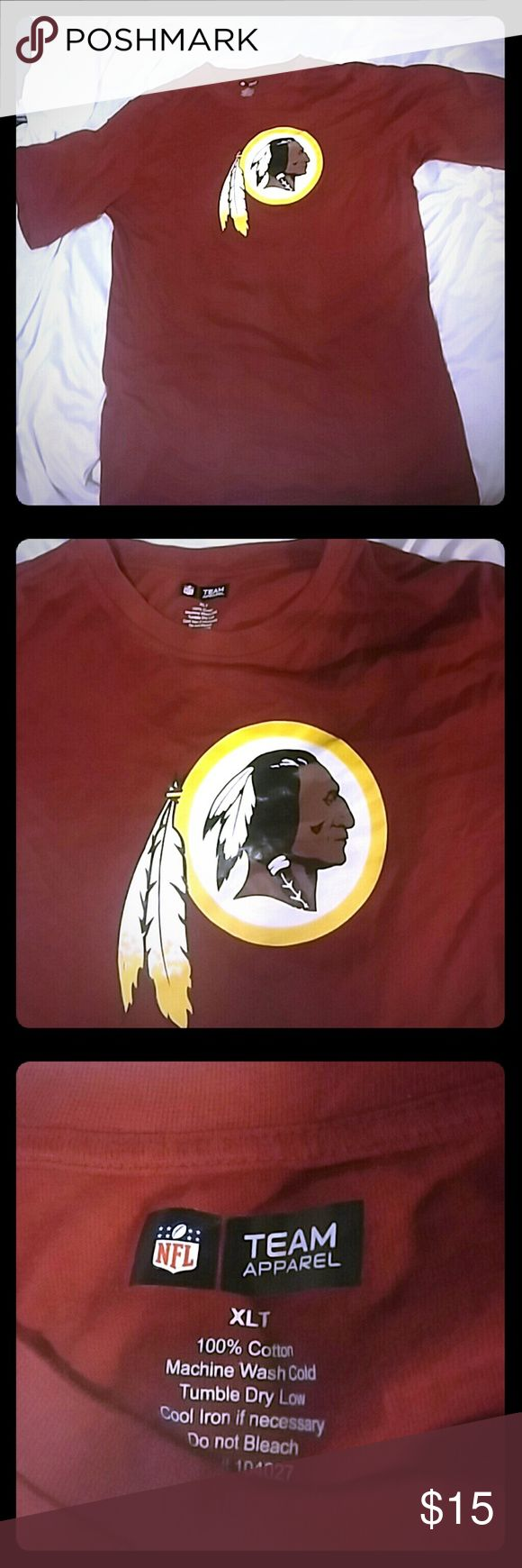 Washington Redskins XLT T shirt Has no name. It's just a Redskins Shirt. Team Apparel Shirts