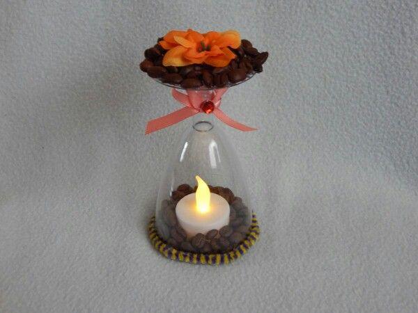 LED Kerze im Glas
