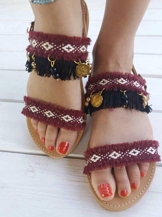 Bohemian sandals Athena  Greek leather sandals