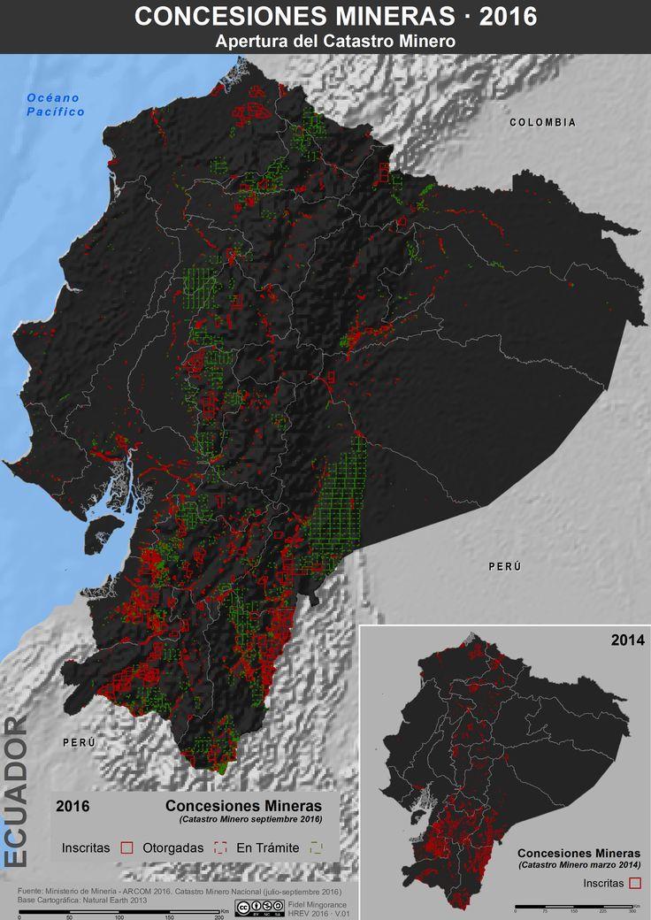 Concesiones mineras en Ecuador, 2016