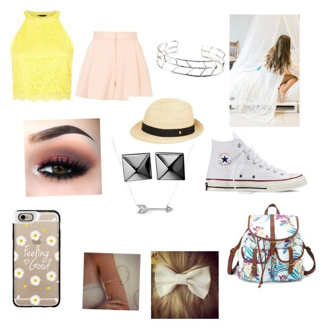 """Lemon girl"" by masterofdolls on Polyvore featuring interior, interiors, interior design, home, home decor, interior decorating, Topshop, Sea Dreamer, Converse and Charlotte Russe"