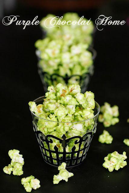 Green Slimed Popcorn - Purple Chocolat Home Printable Recipes