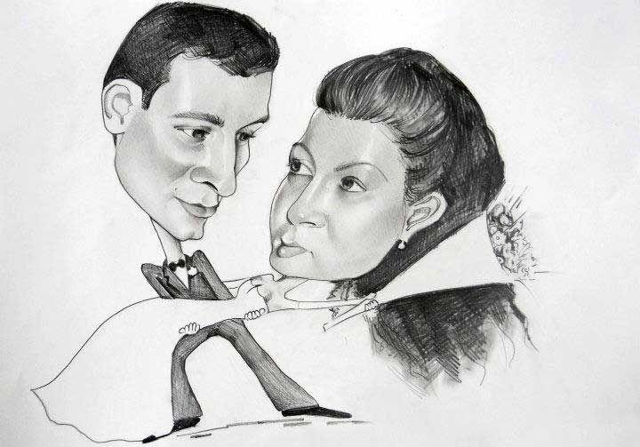 Caricatura_6 - Desen în Creion de Ionuț Mureșan // Caricature_6 - Pencil Drawing by Ionuț Mureșan