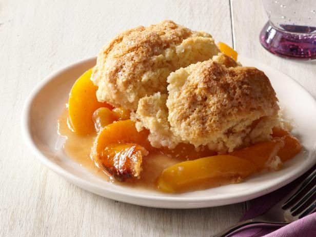 Peach-Plum Cobbler With Buttermilk Biscuits fron #FNMag: Desserts, Buttermilk Biscuits, Pink Zebras, Peachplum Cobbler, Easy To Follow Peaches Plum, Peaches Cobbler, Peach Cobblers, Biscuits Recipes, Peaches Plum Cobbler