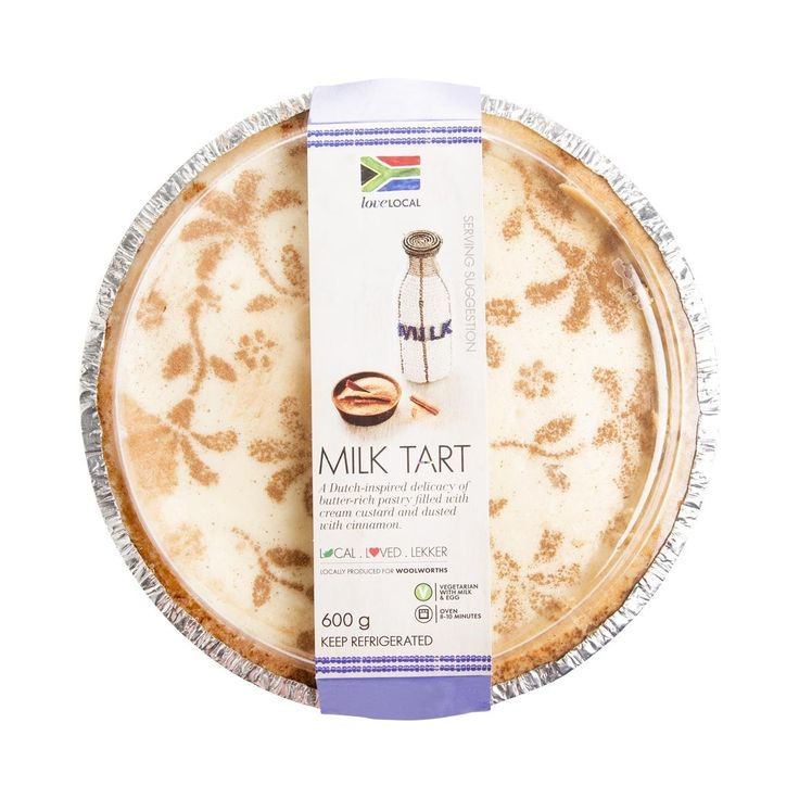 Milk Tart 600g- sweet and spicy like mom. With a 'cheeky' crust