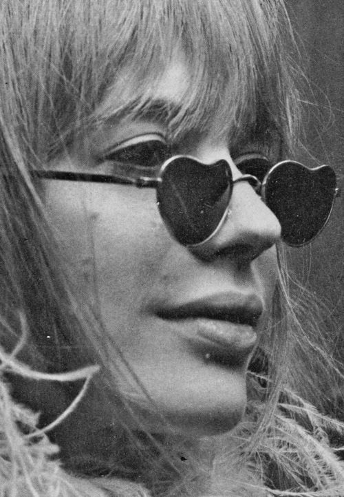 Heart sunglasses, Marianne Faithfull