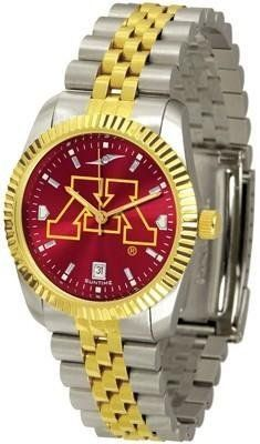 Minnesota Golden Gophers Men's Stainless Steel Alumni Dress Watch by Squeak Me Shoes. $139.95. Men. Officially Licensed Minnesota Golden Gophers Men's Stainless Steel Alumni Dress Watch. AnoChrome Dial Enhances Team Logo And Overall Look. Stainless Case With 23kt Gold-Plated Bezel. Links Make Watch Adjustable. College men's watch. Minnesota Gophers two-tone alumni dress watch offers men a classic, business-appropriate look. Features a 23kt gold-plated bezel, stainless st...